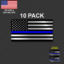 10pk Police Officer American Flag Thin Blue Line decal sticker Blue Lives Matter