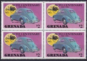 Grenada Auto Automobil Viererblock 1957 VW Käfer Beetle MiNr. 1534 postfrisch