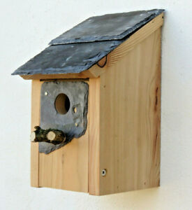Welsh Slate Gift Bird House Wales Cymru nest box dad Christmas birthday