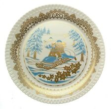 Spode Christmas Pastimes fourth plate Tobogganing