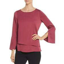 Nic + Zoe Womens Layered Bell Sleeve Top Blouse Shirt BHFO 6046