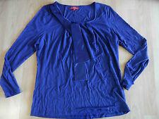 LAURA DI SARPI schönes Langarmshirt mit Schluppe royalblau Gr. 42 w. NEU OM116