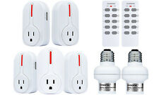 Wireless Remote Control Outlets Light Sockets, Multipurpose Combo Set ETL-Listed