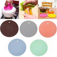 18cm Heat Resistant Silicone Mat Coasters Non-slip Pot Holder Table Placemat