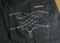 David Emanuel Black Jeans Size 12 Gem Detailed Design on back and front pockets