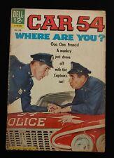 1963 Dell Comic Book Car 54 Where Are You #4 - TV SHOW - SILVER AGE 1st Print