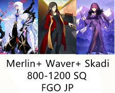 JP INSTANT Acc FGO Merlin+Waver 1900+SQ Fate Grand Order QS lv120