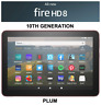 NEW Amazon Fire HD 8 Tablet 32 GB - 10th Generation 2020 Release - PLUM