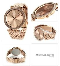 "NEW MICHAEAL KORS MK3192  ""DARCI"" ROSE GOLD TONE DIAL PAVE LADIES WATCH UK"