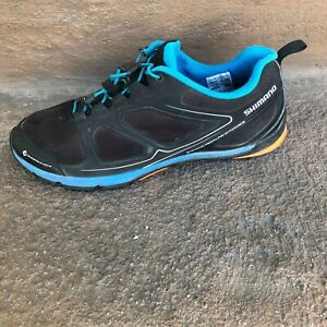 Shimano SH-CT71L Men's Bicycle Shoes Size 10.5 Black/Blue Mountain Bike Cycling
