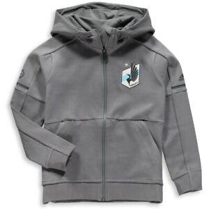 Adidas MLS Minnesota United FC Travel Jacket Grey/Blue CG1216
