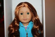 "NEW American Girl Truly Me 18""  DOLL #61 Lt Skin Green Eyes Red Hair Earrings L"