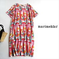 Marimekko & Uniqlo 2018 Psychedelic Print Cotton Smock Dress With Pockets Japan