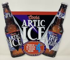 Coors Artic Ice / Artic Ice Light Metal Embossed Beer Sign - New