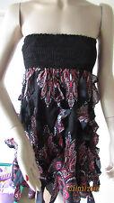NWT 2B BEBE STRAPLESS PAISLEY DRESS SIZE S