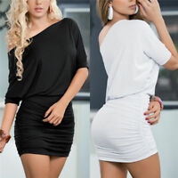 Sexy Women Short Sleeve Bandage Bodycon Pencil Evening Cocktail Party Club Dress