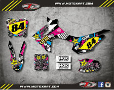 Honda CRF 110 2013 - 2017 model Full Custom Graphic Kit RUSH STYLE decals