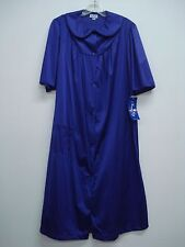 USA Made Nancy King Lingerie Soft Luster Nylon Robe Size Small PURPLE #699N