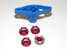 YY-MADMAX LOSI 5IVE-T-B MTXL DBXL MINI WRC ALUMINUM HEX WHEEL NUTS RED W/TOOL