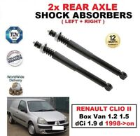 2x REAR SHOCK ABSORBERS SET for RENAULT CLIO II Box 1.2 1.5 dCi 1.9 d 1998->on