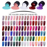 LEMOOC 180 Colores 5ml Esmalte de Uñas UV Gel Soak off Nail UV Gel Polish DIY