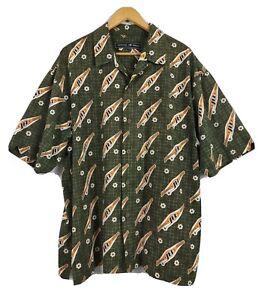 Johnny Blaze Men's Button Front Shirt Size XL VGC Casual Polyester SS VGC