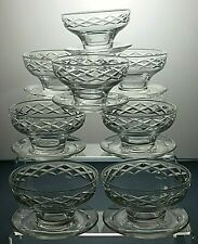 Lead Crystal Cut Glass Dessert bowls Or Footed dishes set of 8