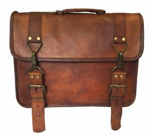 Herren Aktentasche Echtleder Messenger Laptop Schulter Indische Vintage Tasche