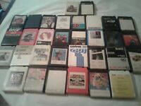 32 Tested 8-Track Tapes  - See Pictures And Description