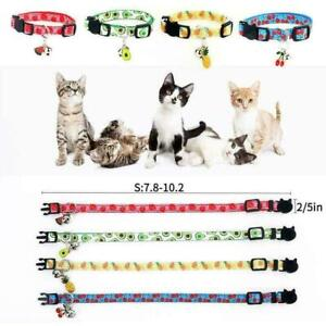 1* Safety Release Reflective Cat Kitten Collar Hi Vis 2020 Bell Adjustable Q2S7