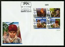 SIERRA LEONE 2019 SCOUTS BADEN POWELL SHEET FIRST DAY COVER