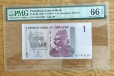 More details for zimbabwe   0ne dollars pmg 66 exceptional paper quality