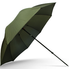 "45"" NGT GREEN CARP FISHING BROLLY WITH TILT FUNCTION FISHING SHELTER UMBRELLA"