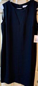 Calvin Klein Black Sleeveless Dress New NWT 8