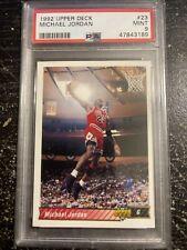 1992 Upper Deck MICHAEL JORDAN #23 PSA 9 Mint Chicago Bulls GOAT 23 MJ Dunk