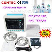 Hospital Patient Monitor 6paras Vital Signs Monitor SpO2,PR,NIBP,ECG,RESP,TEMP
