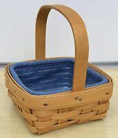 Longaberger Tarragon Basket 2002, Cornflower Liner, Protector