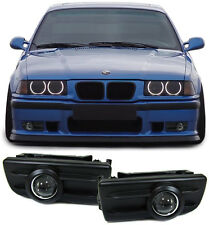 BLACK PROJECTOR FOG LIGHTS BMW E36 3 SERIES SALOON COUPE CABRIO COMPACT ESTATE
