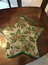 Christmas Star Basket with Handle and Transparent Material Covering