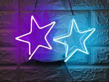 "New two stars Wall Decor Artwork Neon Light Sign 14"" x 8"""