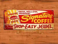 """Signature Coffee"" Kitchen Rustic Advertisement Wall Decor TIN SIGN"