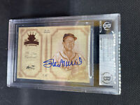 STAN MUSIAL BECKETT CERTIFIED SIGNED Slabbed  2004 Diamond Kings Heritage Card
