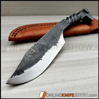 Fixed Blade Survival Hunting Knife HAND FORGED CARBON STEEL Blade Railroad Spike