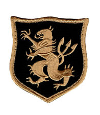 Devgru Lion Crusader Shield Navy Seal Team 6 Patch 3.0 inch-Hook Fastener DV-5
