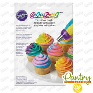 Wilton ColorSwirl - 3 Colour Swirl Icing Tri Coupler Icing Piping Bag