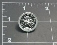 Unique Apollo 13  Mission Pin Silver- tone with black