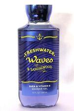 NEW 1 FRESHWATER WAVES & SANDALWOOD BATH BODY WORKS BODY WASH SHOWER GEL 10 OZ