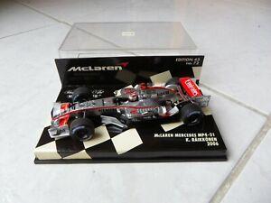 Mclaren Mercedes MP4-21 Kimi Raikkonen #3 2006 MINICHAMPS 1/43 F1 Fórmula 1