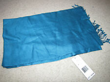 "NEW NWT *Collection Fiftynine* Blue Jewel Scarf $125 Cashmere/Silk 20""x68"""