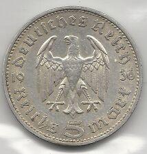 GERMANY, NAZI, 1936-A,  5 MARK, SILVER, KM#86,  EXTRA FINE+